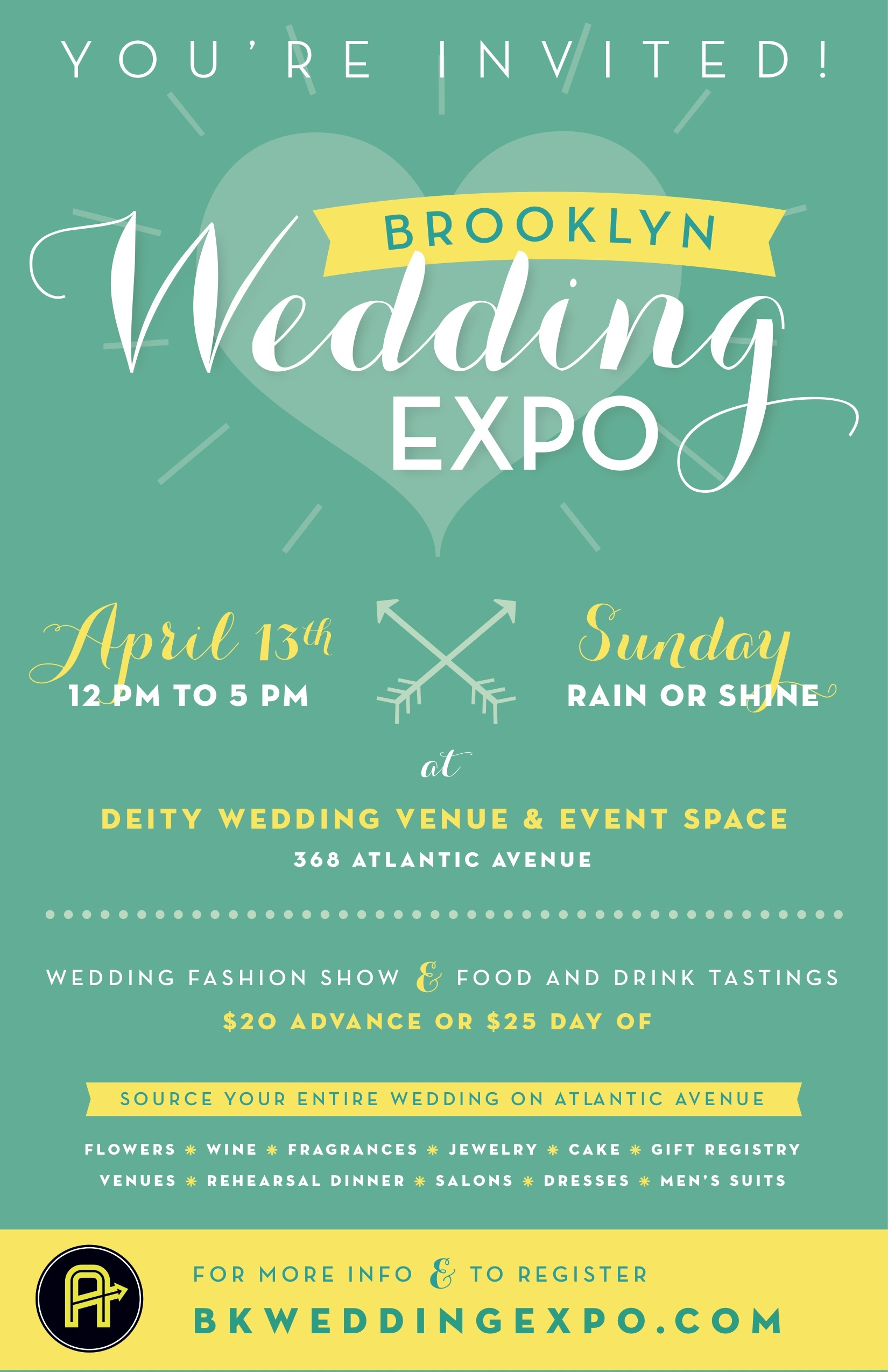 Brooklyn Wedding Expo April 13th…. You're Invited- Source Your Entire Wedding On Atlantic Avenue ...